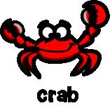 illustration of a cartoon crab