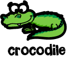 illustration of a cartoon crocodile