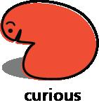 Cartoon blob shape that looks curious