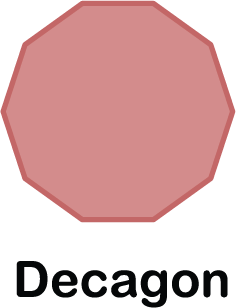illustration of a decagon shape (with 10 sides)