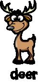 illustration of a cartoon deer