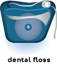 illustration of a container of dental floss