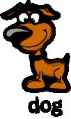 illustration of a cartoon dog