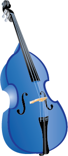 Illustration of a double bass