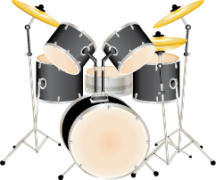 Illustration of a drum set