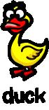 illustration of a cartoon duck