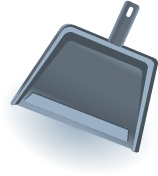 Illustration of a dustpan