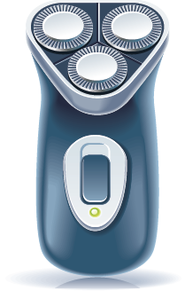 illustration of an electric razor