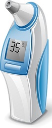 illustration of an electric thermometer