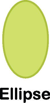 illustration of an ellipse shape