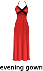 illustration of an evening gown