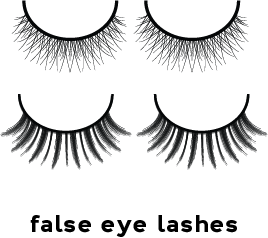 Illustration of two different false eyelash sets
