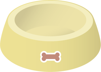 illustration of a pet food dish