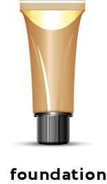 Illustration of a tube of foundation