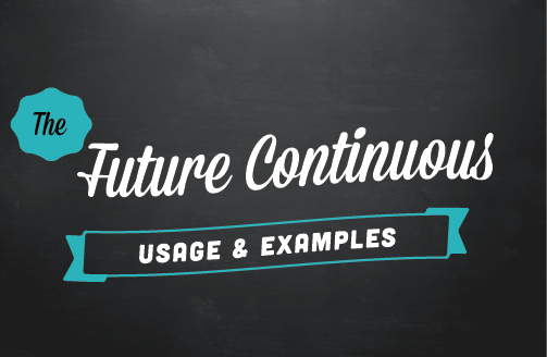 Text Image: The present continuous: Usage & examples