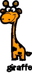 illustration of a cartoon giraffe