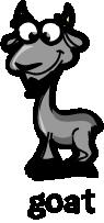 illustration of a cartoon goat