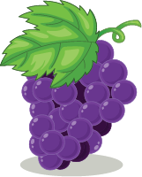 Illustration of a bunch of grapes