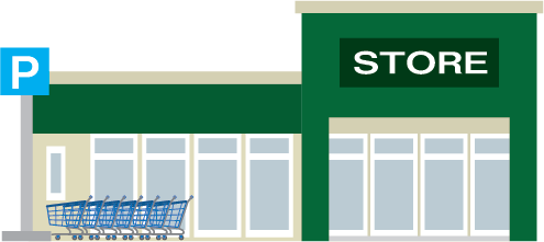 Illustration of a grocery store exterior
