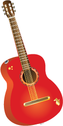 Illustration of a guitar