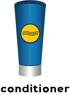 Illustration of a container of conditioner.