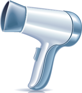 illustration of a hair dryer