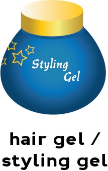 Illustration of a container of hair styling gel