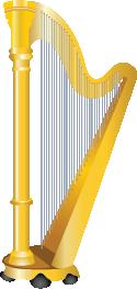 Illustration of a harp