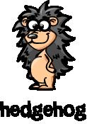 illustration of a cartoon hedgehog