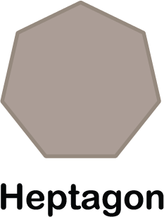 illustration of a heptagon shape (with 7 sides)