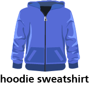 illustration of a hoodie sweatshirt