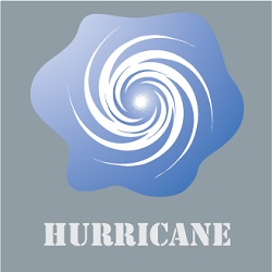 swirling hurricane icon