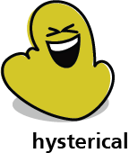 Cartoon blob shape that looks hysterical