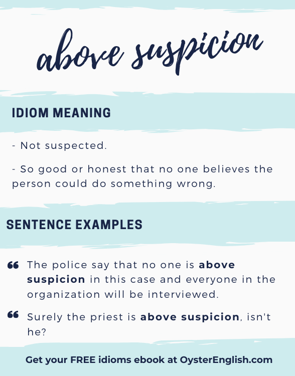 Visual with definition and examples of the idiom