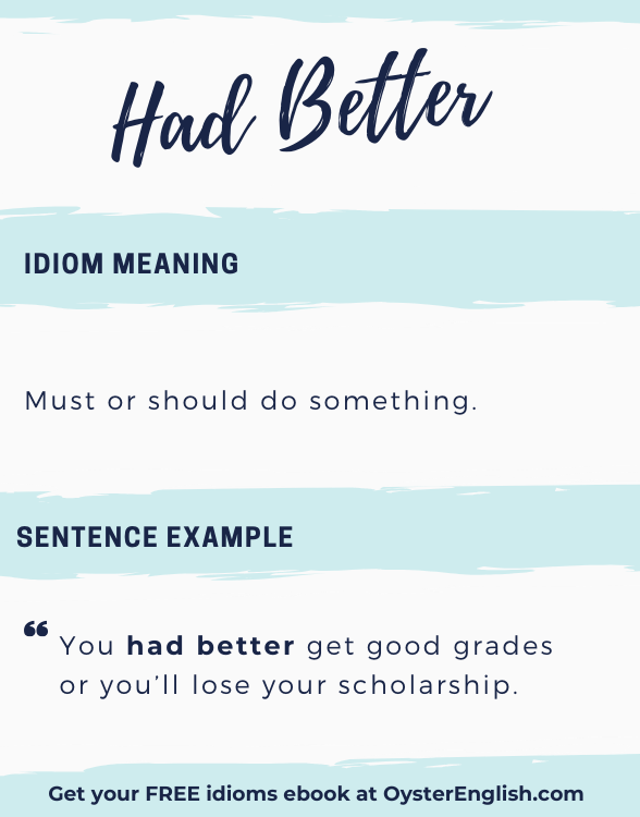 Artistic lettering of the idiom