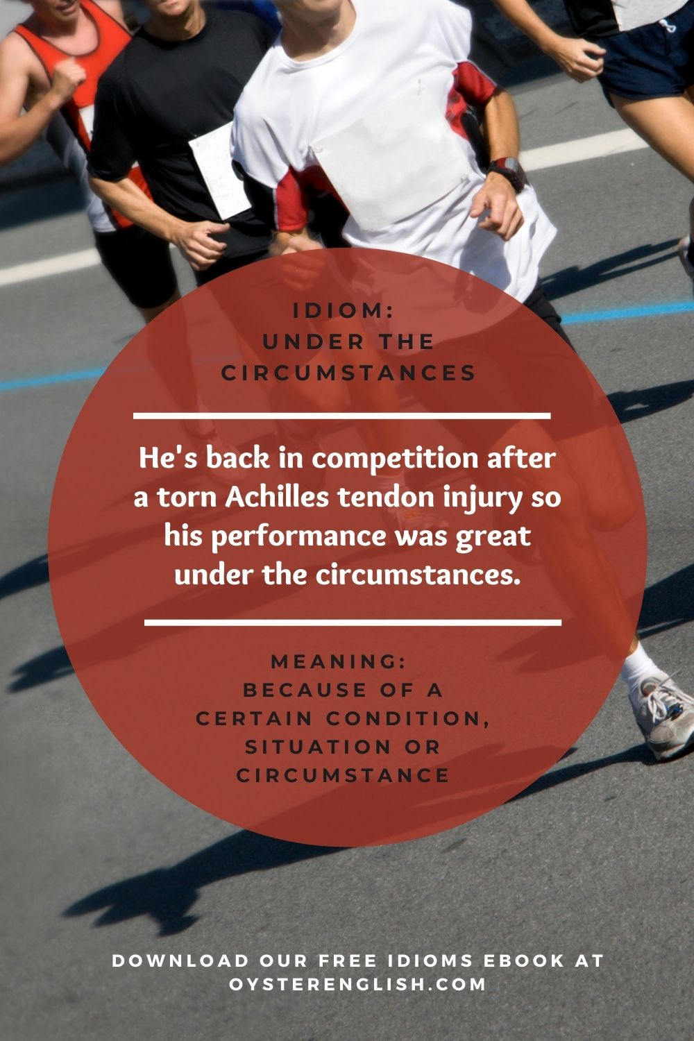 Image of runners in a road race and definition of