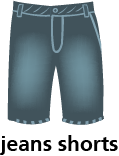 illustration of a pair of jeans shorts