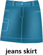 illustration of a jeans skirt