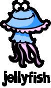 illustration of a cartoon jellyfish