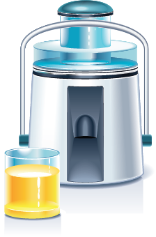 illustration of a juicer