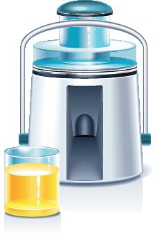 illustration of a juicer