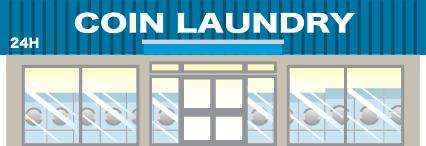 Illustration of laundromat