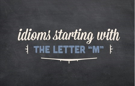 Decorative logo image with the text: idioms starting with the letter