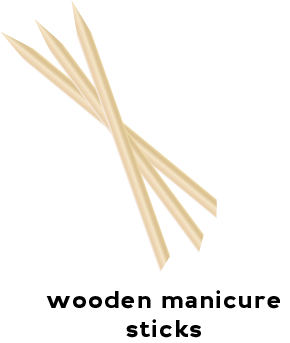 Illustration of wood manicure sticks