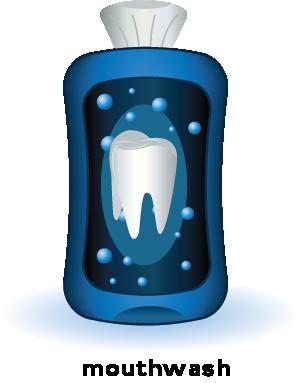 illustration of a bottle of mouthwash