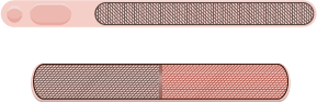 Illustration of two nail file emery boards