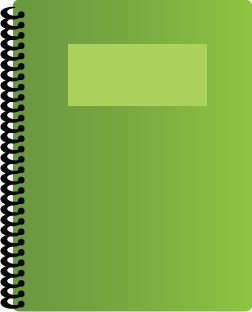 Illustration of a spiral bound notebook