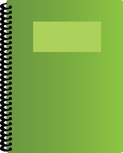 Illustration of a spiral bound notebook