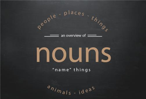 Text visual of nouns