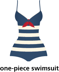 illustration of a one-piece swimsuit